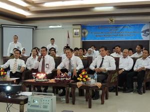 Teleconference Ketua BPK dengan Pegawai Perwakilan Provinsi Papua Barat Dalam Rangka HUT BPK KE-67 Tahun 2014 (2)